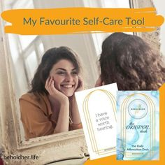 My Favourite Self-Care Tool BEHOLDHER The Daily Affirmation Deck BEHOLDHER.LIFE' www.beholdher.life Self Care Routine, Daily Affirmations, Best Self, Self Love, Acting, Deck, How To Plan, Life, Self Esteem