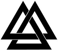 For your consideration is a die-cut vinyl Valknut decal available in multiple sizes and colors. Vinyl decals will stick to any smooth clean surface including glass walls laptops phones cars and b Dreieckiges Tattoos, Body Art Tattoos, Tribal Tattoos, Tattoos For Guys, Sleeve Tattoos, Tatoos, Tattoo Odin, Posca Art, Tattoo Und Piercing