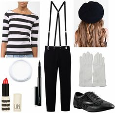 Fabulous Find of the Week – Costume Edition: Forever 21 Striped Top – College Fashion - Pantomime Schminke Mime Halloween Costume, Circus Costume, Halloween Outfits, Halloween Party, Halloween Fashion, Couple Halloween, Halloween Kleidung, Forever 21, Last Minute Costumes