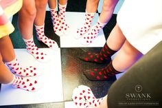 Bat Mitzvah Party Favors - Socks with Hearts for Alice In Wonderland Theme {Party by Swank Productions, Sean Smith Photography} - mazelmoments.com