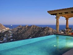 4-bedroom Villa Aguas Brillantes is a stunning vacation rental overlooking Cabo San Lucas #Mexico . This stylish home commands a breathtaking hillside setting with sweeping ocean views and boasts plenty of space, luxury and comfort for up to 10 guests. #Luxury #Travel
