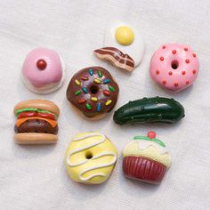 Polymer Clay Food Fridge Magnets