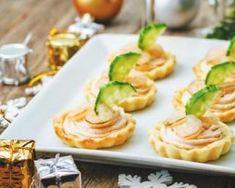 Tartelettes légères à la mousse de saumon light et aux crevettes roses…
