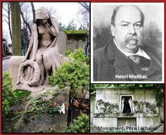 (The lady in sorrow on Meilhac's tomb is by Paul Bartholomé (1848-1928), who also made the great mortal monument at the Père Lachaise Cemetery.)
