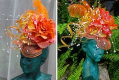 Check out this incredible hat by jewelry designer and recycled materials artist Dale Wayne. Dale used one of our fascinators and 15 water bottles to create this amazing piece for a fundraiser in her friend Harriet Lakes honor. Learn more about dale and see her amazing jewelry here.
