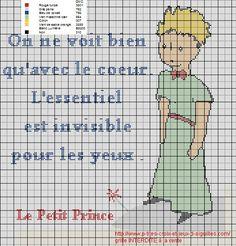 Le Petit Prince..... que de souvenirs ce conte de Saint Exupery, voici la grille que j'ai réalisé :