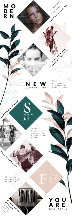 63 Ideas Design Fashion Poster Layout For 2019 Social Media Branding, Social Media Design, Personal Branding, Corporate Branding, Feeds Instagram, Instagram Grid, Instagram Posts, Web Design, Layout Design