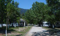 Camping Golden Beach is een gemeentecamping die ligt aan de oostzijde van het eiland Thassos. Vanaf Thassos-stad ( Limenas) is het via de kustweg ongeveer 15 km. tot aan het dorp Panagia. Daar afslaan richting Chrisi Ammoudia. Vanaf hier aangegeven. De weg naar beneden is zeer stijl en met veel haarspeldbochten. Rijd je met een caravan dan is het is misschien beter er voor te kiezen naar het volgende dorp, Scala Potamia, door te rijden, daar linksaf naar de kust en dan langs de vlakke…