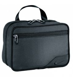 Durable woven nylon/poly material  Multiple accessory pockets  3-1-1 clear 1 quart removeable pouch  Designed for easy cresting compatibility Nike Departure Toiletry Kit II  Retail Price: $38.50 Golf Director Price: $35.00