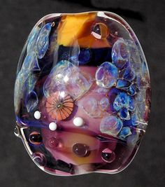 Lampwork bead tutorial How to use opal frit by Jetage studio - Renee Wiggins