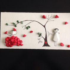 #pebbleart #art #çakıltaşı #hediyelik #gift #kalp #heart #kalpyağmuru #tree #kalpağacı #hearttree #personalized