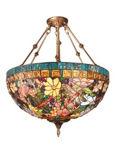 Tiffany OFF! Tiffany style stained glass lamps can add a touch of antique elegance to any home style and instantlly transform any plain or drab corner into a stunning yet very cozy place Stained Glass Chandelier, Stained Glass Light, Tiffany Stained Glass, Stained Glass Windows, Tiffany Glass, Tiffany Style Ceiling Lights, Tiffany Chandelier, Chandelier Lighting, Chandeliers