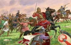 The Roman defeat of Adrianópole from which the Empire never fully recovered. Anglo Saxon, Barbarian, Roman Empire, Military History, Warfare, Medieval, Artwork, Painting, Image