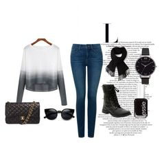 """""""On The Go"""" by fire-flower7001 ❤ liked on Polyvore featuring NYDJ, Chanel, Lacoste, Olivia Burton and Essie"""