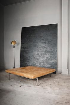 Like this idea for a bedhead paired with a diffetent bed I think the result could be amazing ....... Poul Kjaerholm Chaise