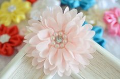 New 2pcs Handmade chiffon flowerslight pink FB1069 by AsecInc