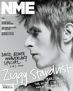 David Bowie on the cover of NME Magazine John Lennon, Nme Magazine, Magazine Covers, David Bowie Born, Ziggy Played Guitar, The Thin White Duke, Major Tom, Ziggy Stardust, Music Magazines