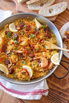 Easy Shrimp and Spanish Chorizo Paella