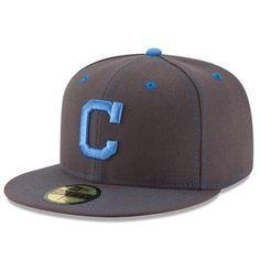 Men s Cleveland Indians New Era Graphite 2016 Father s Day 59FIFTY Fitted  Hat Cleveland Indians Hat e0b5a4a54a08