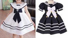 Patrón vestido marinero infantil - Patrones gratis
