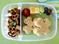 kid's lunch for st. patrick's day