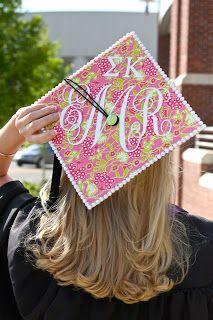 Southern monogrammed graduation cap.