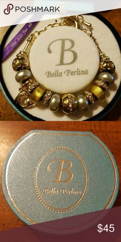 Bella Perlina bracelet Silver and gold beaded bracelet with dolphin charm... brand new in box. Bella Perlina Jewelry Bracelets