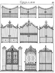 Forge salers - Ferronnerie d'art, artisan forgeron, fer forgé Steel Gate Design, Iron Gate Design, Tor Design, House Design, Garden Design, Balustrades, Wrought Iron Gates, Grill Design, Railing Design