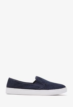 Perforated Faux Suede Slip-Ons | FOREVER21 - 2000078533