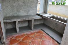 55 Ideas For Kitchen Rustic Outdoor Concrete Countertops Dirty Kitchen Design, Kitchen Room Design, Outdoor Kitchen Design, Kitchen Interior, Loft Kitchen, Rustic Kitchen, Kitchen Layout Plans, Concrete Countertops, Concrete Cement