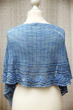 Modèle de tricot - Christal Little Kitchen châle L'Envolée - L'échappée laine