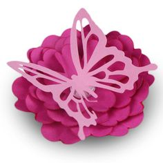 Silhouette Design Store: fairy garden - butterfly flower