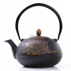 Peony Japanese Cast Iron Teapot
