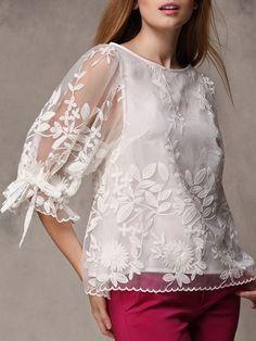 Resultado de imagen para blusas elegantes de europa