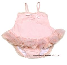Kate Mack Baby Girls Pink Barefoot Ballerina Tulle Two Piece Swimsuit