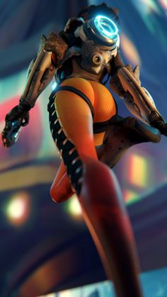 Tracer,Overwatch,Blizzard,Blizzard Entertainment,фэндомы,Overwatch art,yeero-sfm,blender