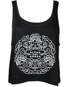 Alpha Chi Omega Flowers Tank by Adam Block Design | Custom Greek Apparel & Sorority Clothes | www.adamblockdesign.com
