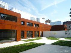 Cortenstaal bekleedt gevels van 'woonfabriek' aan Mechelse Auwegemvaart met DMVA ARCHITECTEN en VPT VERSTEEG