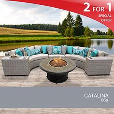Catalina 6 Piece Outdoor Wicker Patio Furniture Set 06a Learn More By Visiting The