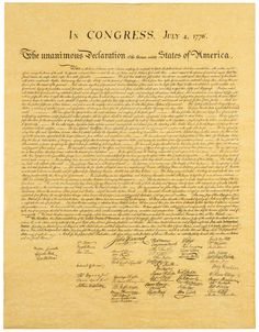 Declaration of Independence * Adopted by Congress on July 4, 1776.  #historic