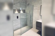 Stunning frameless shower panels in glass will be hugely popular in Cut to any size in a variety of thicknesses. Shower Screens, Shower Panels, Glass Shower Doors, Glass Balustrade, Custom Mirrors, Frameless Shower, Custom Glass, Bathroom Renos, Shower Enclosure