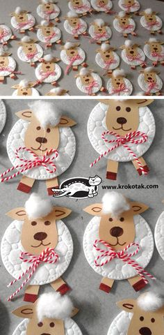 Sheep with Cotton Pad children activities, more than 2000 coloring pages Sheep Crafts, Fun Crafts, Diy And Crafts, Paper Crafts, Easter Crafts For Kids, Diy For Kids, Gifts For Kids, Children Crafts, Easter Art