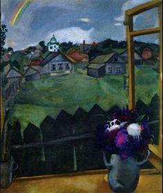 'Window Vitebsk', Oil On Canvas by Marc Chagall (1887-1985, Belarus)