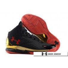 Red Gold Basketball Shoes - UA Curry