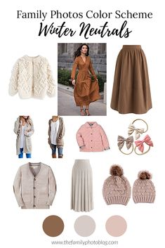Neutral Outfits for winter family photos Neutral Family Photos, Winter Family Pictures, Fall Family Picture Outfits, Family Christmas Outfits, Christmas Pictures Outfits, Family Picture Colors, Family Portrait Outfits, Family Photos What To Wear, Family Outfits