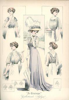 [De Gracieuse] Gekleede toiletten (October 1908)