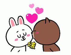 Cute Bear Drawings, Cute Cartoon Drawings, Cute Love Gif, Cute Love Pictures, Cartoon Kiss, Animated Emojis, Bear Gif, Cony Brown, Wonder Art