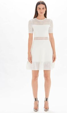 Knit Skater Dress #whitedress #trendydress #croppedstyle #eyeletdress http://www.styleshack.com/boutique-directory/product/1620