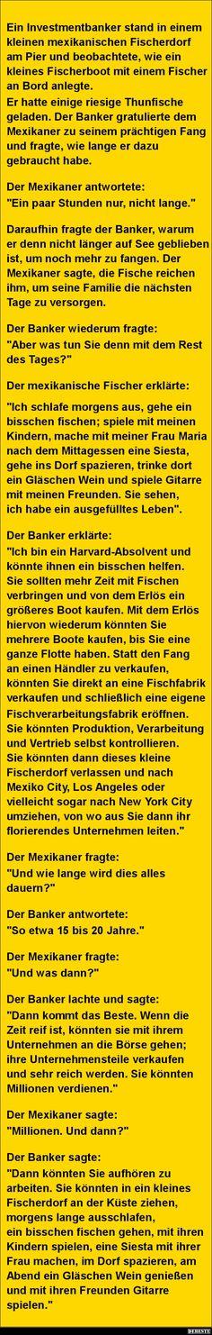 Ein Investmentbanker stand in einem kleinen.. | DEBESTE.de, Lustige Bilder, Sprüche, Witze und Videos