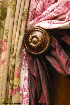 Love the two fabrics together for drapes